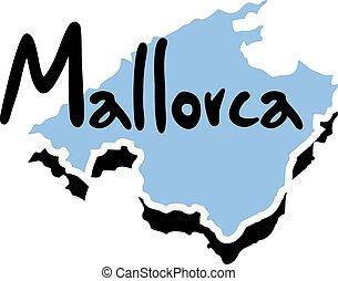 Mallorca message symbol - Creative design of Mallorca...