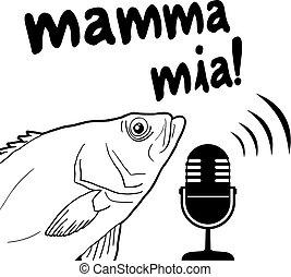 mamma mia fish message