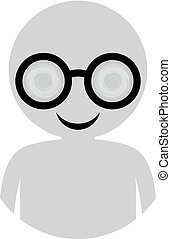 man with glasses icon