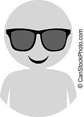 man with sunglasses illustration
