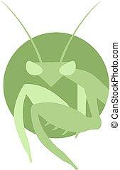Creative design of mantis symbol
