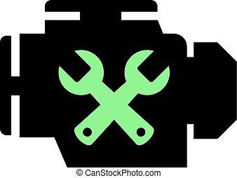 mechanical workshop icon