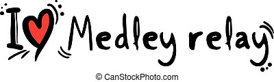 Medley relay love - Creative design of Medley relay love