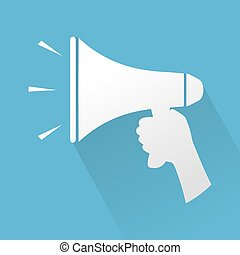 megaphone sign - Creative design of megaphone sign
