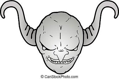 metal demon head - Creative design of metal demon head