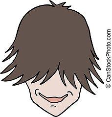 modern boy face