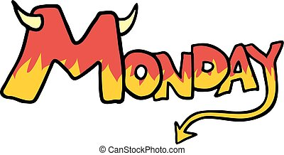 monday icon - Creative design of monday icon
