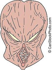 monster face draw