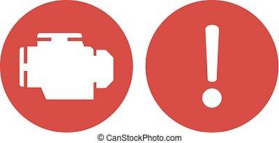 motor broken alarm advise