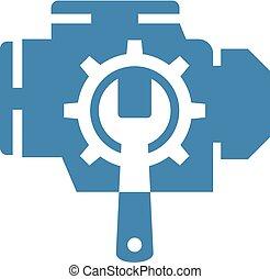 Creative design of motor repair symbol