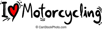 Motorcycling love symbol - Creative design of Motorcycling...