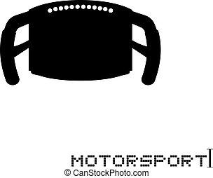 motorsport wheel car icon - Creative design of motorsport...