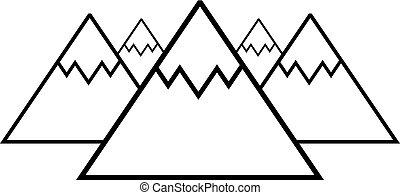 mountains symbol