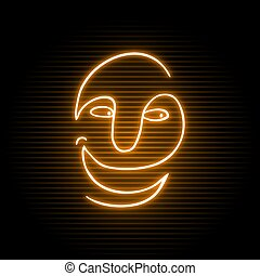 neon happy face
