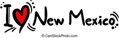 New Mexico love - Creative design of New Mexico love