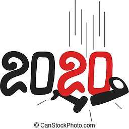 Creative design of new year 2020