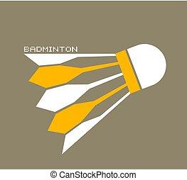 nice badminton symbol - Creative design of nice badminton...