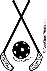 Nice black floorball symbol