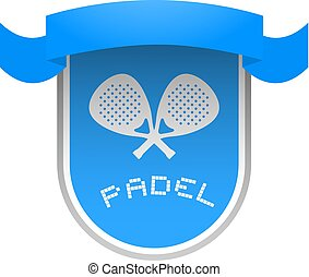 nice blue padel club emblem