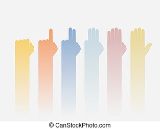 nice colorful counting fingers illustration