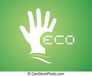 nice eco symbol