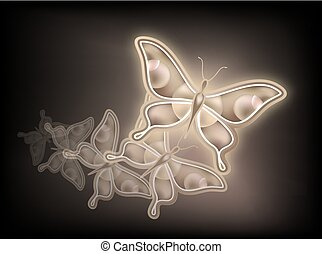 nice golden butterfly