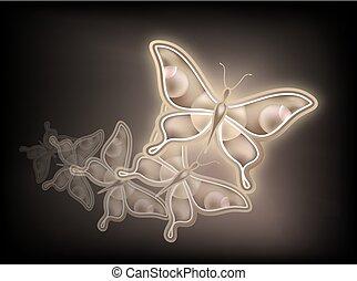 nice golden butterfly
