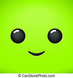 nice green face