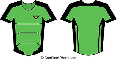 nice green shirt illustration - Creative design of nice...
