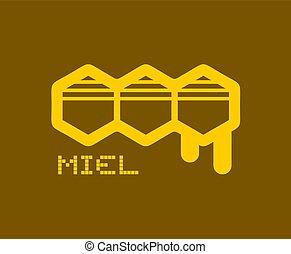 nice honey icon in spanish
