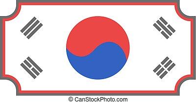 nice korea symbol - Creative design of nice korea symbol