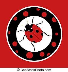 nice ladybug circle symbol
