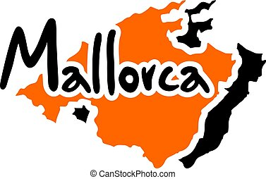 Nice Mallorca symbol - Creative design of Nice Mallorca...