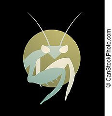 nice mantis symbol - Creative design of nice mantis symbol