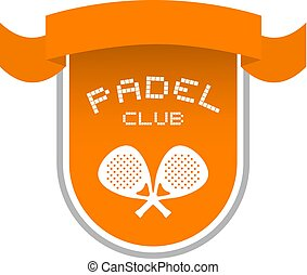 nice orange padel club emblem
