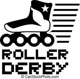 nice roller derby symbol - Creative design of nice roller...