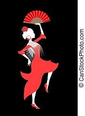 nice sevillanas dancer illustration