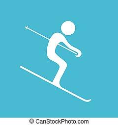 nice skiing icon