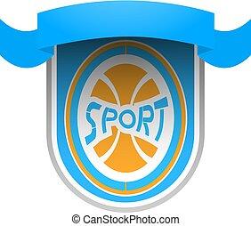 nice sport ribbon emblem