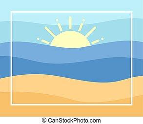 nice summer frame beach background