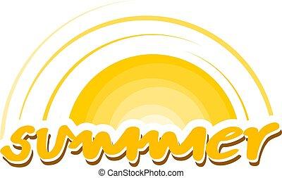 nice summer icon - Creative design of nice summer icon
