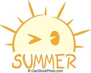 nice summer symbol