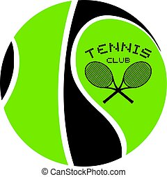 nice tennis club emblem art