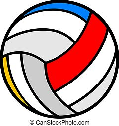 nice volleyball ball illustration