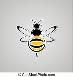 nice wasp icon - Creative design of nice wasp icon