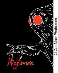 nightmare art draw