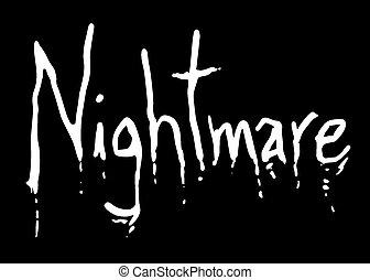 Creative design of Nightmare art symbol