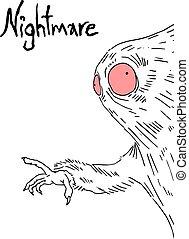 nightmare monster - Creative design of nightmare monster