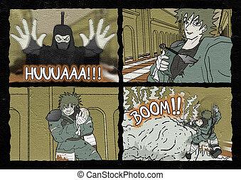 ninja comic scene
