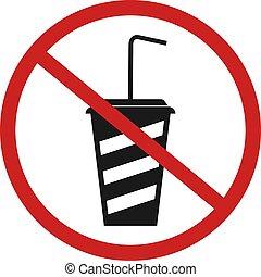 no drink zone - Creative design of no drink zone